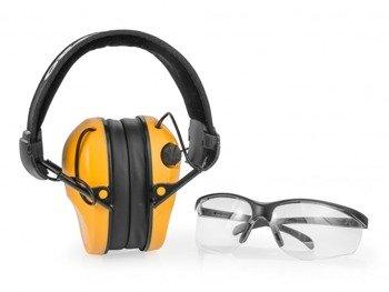 Aktywne ochronniki słuchu RealHunter ACTiVE Pro pomarańczowe + okulary ochronne