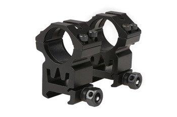 Dwuczęściowy montaż optyki 25mm na szynę RIS (wysoki)