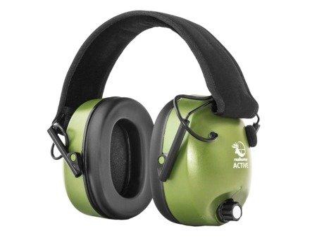 Aktywne ochronniki słuchu RealHunter ACTiVE oliwkowe