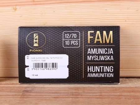 Amunicja 12/70 Pionki pocisk gumowy (10 szt.)