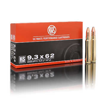Amunicja 9,3x62 RWS Cone Point 16g/247gr (20 szt.)