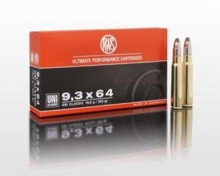 Amunicja 9,3x64 RWS Uni Classic 19g/293gr (20 szt.)