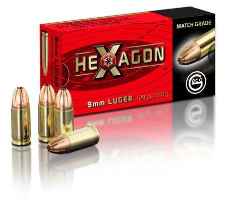 Amunicja 9x19 GECO Hexagon 8g/124gr (50 szt.)