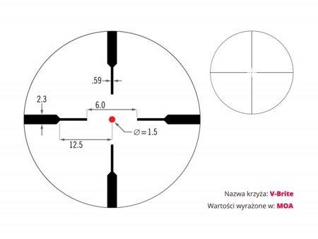 Luneta celownicza Vortex Crossfire II Hog Hunter 3-12x56 AO V-Brite