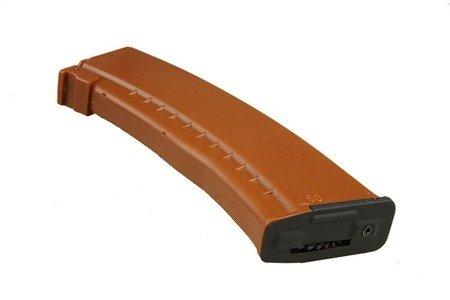 Magazynek Hi-Cap 500 bbs do AK74 - brązowy
