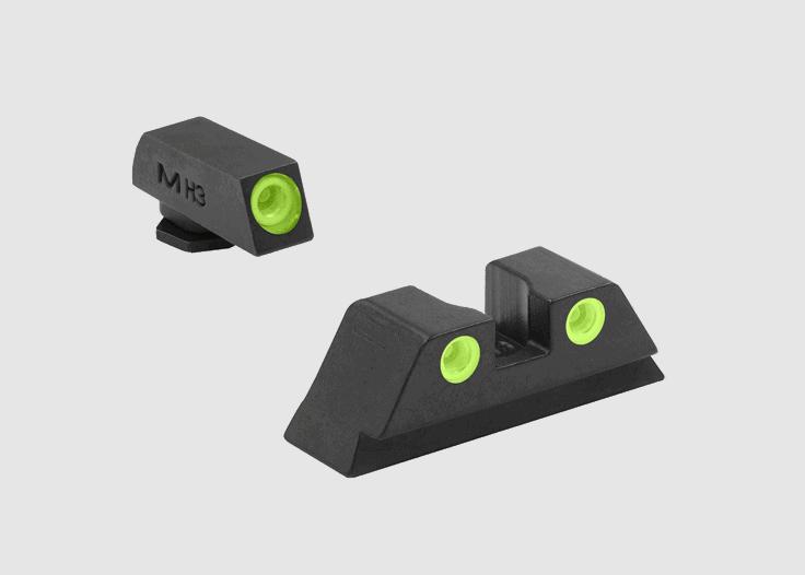 Meprolight ML-10222 Tru-Dot przyrządy trytowe Glock 10mm/45ACP