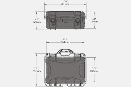 Skrzynia transportowa NANUK 915 DJI™ SPARK FLY MORE grafitowa