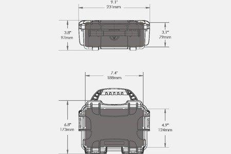 Skrzynia transportowa Nanuk 903 czarna - pianka modułowa wyrywana