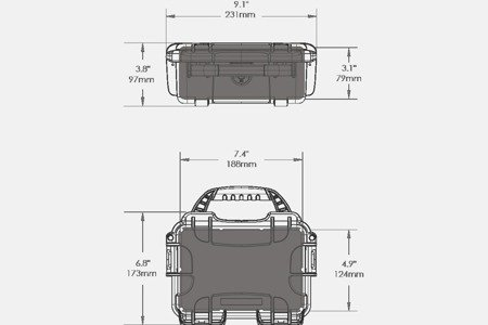 Skrzynia transportowa Nanuk 903 niebieska - pianka modułowa wyrywana