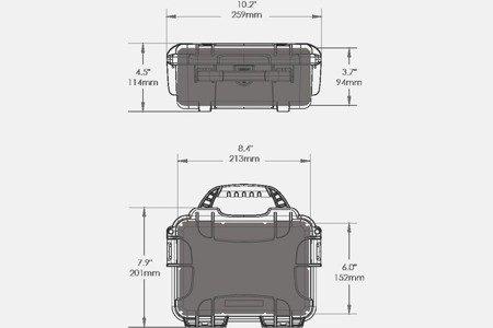Skrzynia transportowa Nanuk 904 czarna - bez wypełnienia