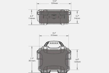 Skrzynia transportowa Nanuk 904 żółta - pianka modułowa wyrywana
