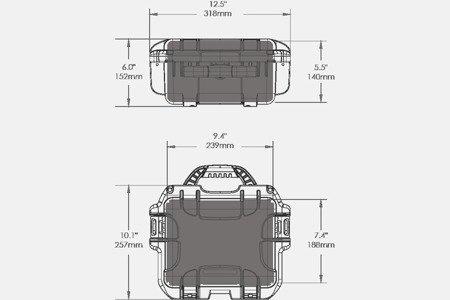 Skrzynia transportowa Nanuk 905 grafitowa - wkład modułowy FOTO