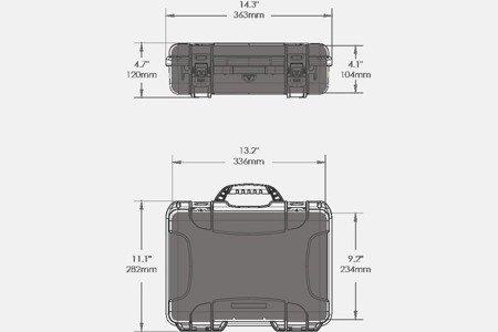 Skrzynia transportowa Nanuk 910 pomarańczowa - pianka modułowa wyrywana