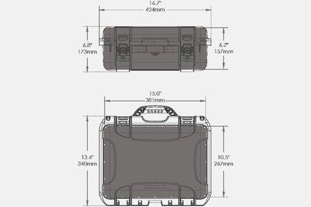 Skrzynia transportowa Nanuk 920 żółta - wkład modułowy FOTO