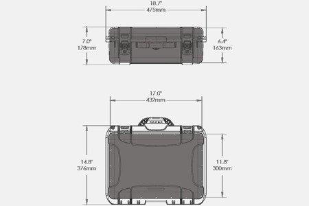 Skrzynia transportowa Nanuk 925 grafitowa - pianka modułowa wyrywana