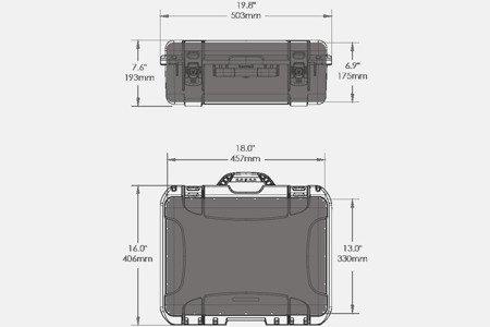 Skrzynia transportowa Nanuk 930 czarna - bez wypełnienia