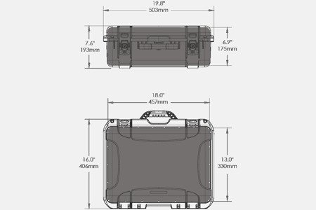 Skrzynia transportowa Nanuk 930 czarna - pianka modułowa wyrywana