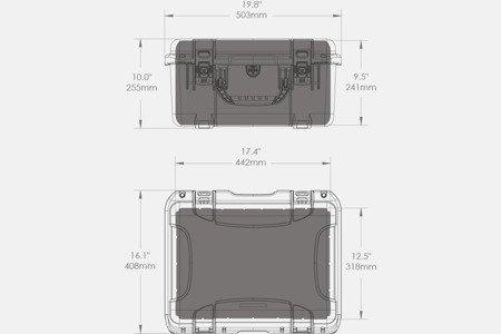 Skrzynia transportowa Nanuk 933 grafitowa - wkład modułowy FOTO