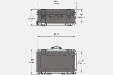 Skrzynia transportowa Nanuk 935 srebrna - pianka modułowa wyrywana