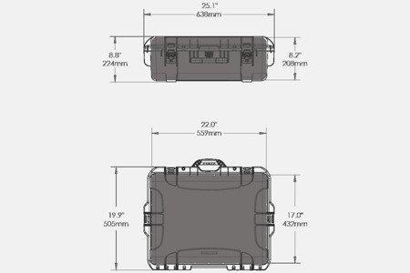 Skrzynia transportowa Nanuk 945 żółta - wkład modułowy FOTO