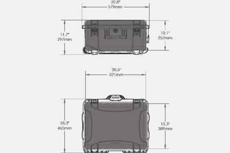 Skrzynia transportowa Nanuk 950 DJI™ PHANTOM 4 pomarańczowa