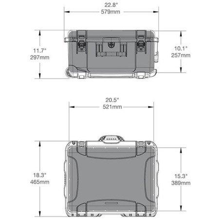 Skrzynia transportowa Nanuk 950 oliwkowa - pianka modułowa wyrywana