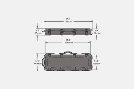Skrzynia transportowa Nanuk 990 Czarny - pianka na zamówienie